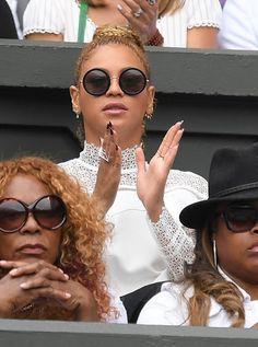 Beyoncé and Jay at Wimbledon supporting Serena