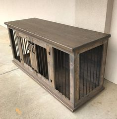 custom double dog kennel double dog crate furniture hinged door wood kennel custom kennel dog bed dog bed pet furniture