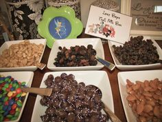 Peter Pan Baby Shower Lost Boys Trail Mix Bar Our Suburban Farm: Peter Pan and Tinkerbell Baby Shower