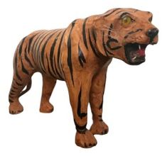 Vintage Big Cat Mid Century Modern Leather Artist Tiger Statue Home Office Decor Target Home Decor, Home Office Decor, Vintage Accessories, Home Decor Accessories, Witch Decor, Mid Century Modern Decor, Antique Items, Big Cats, Vintage Antiques
