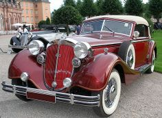 Horch Cabriolet - 1937 Maintenance of old vehicles: the material for new cogs/casters/gears/pads could be cast polyamide which I (Cast polyamide) can produce Classic Motors, Classic Cars, Classic Auto, Auto Union, Vintage Trucks, Retro Cars, Car Car, Hot Cars, Motor Car