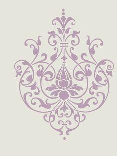 Flourishes And Swirls Floral Royalty Free Clipart Image Modern Baroque, Baroque Design, Modern Art, Interiores Art Deco, Etiquette Vintage, Damask Wallpaper, Damask Stencil, Luxury Wallpaper, Custom Wallpaper