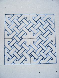 One of the better explained dot grid based Celtic Knot tutorials out there, complete with Walls.  Good do's and don'ts.