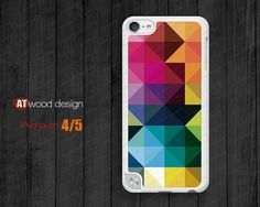 IPod case ipod touch 5 case geometry color patch  by Atwoodting