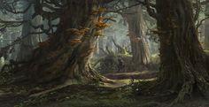 ArtStation - Forest environment concept 2, Sergey Vasnev