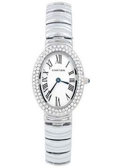 Cartier Baignoire 18K White Gold Diamond Lady's Watch WB5097W2 ,cheap Cartier Watches discount
