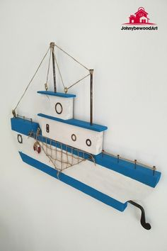 Wooden Fish, Nautical Art, Wooden Gifts, Model Ships, Handmade Home Decor, Fishing Boats, Wood Projects, Diy And Crafts, Wall Decor