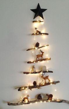 Einfallsreicher und günstiger Weihnachtsbaum mit Gemütlichkeitsfaktor. #Weihnachten #Wohnen #Einrichtung