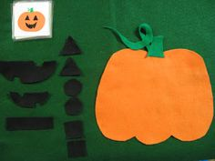 matching objects to pictures - felt board jack-o-lantern activity, pumpkins