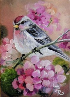 """I greatly admire the beautiful bird paintings by Paulie Rollins.  She writes, """"I love to play with colors in any form, from watercolors, pencils and pastels, to acrylics and oils. My artwork can be found in private collections around the world and in several publications."""""""