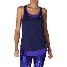 Energy+ Women s Fitness 2-in-1 Tank Top - Dark Blue 65fabdb414d