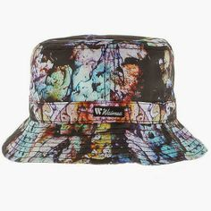 KIX & LIDZ: Waimea The Cement Paint Bucket Hat - Multi Colors...This is The Cement Paint Bucket Hat by Waimea in the Multi Colors colorway. The bucket is 100% polyester.