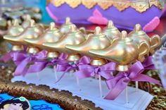 Genie Lamp cake pops from a Princess Jasmine Arabian Nights Birthday Party on Kara's Party Ideas | KarasPartyIdeas.com (36)