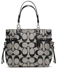 COACH COLETTE SIGNATURE TOTE - Tote Bags - Handbags & Accessories - Macy's