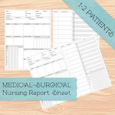 Nurse Report Sheet, New Grad Nurse, Med Surg Nursing, Medical Surgical Nursing, Academic Planner, Vital Signs, Nursing Notes, Nursing Students, Sign I