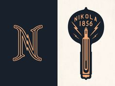 Typography Masculine and retro Branding light bulb in Hospitallity Nikola Tesla, Lettering, Typography Design, Graphic Design Inspiration, Creative Inspiration, Tesla Logo, Typographie Logo, Industry Logo, Web Design