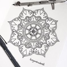 Today's mandala ☺️✒️ // www.fortyonehundred.co.nz  #mandala #beautiful_mandalas #drawing #thismorningsdrawing #tattoo #tattoodesign #mandalamaze #love_mandalas #heymandalas #mandalala #mandalatattoo #symmetry #sacredgeometry #geometry #floral #linework #fortyonehundred