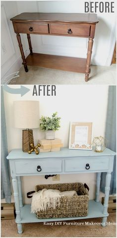 - love this color americana decor chalky finish paint robin s egg blue chalk paint beachy blue chalk paint furniture makeover beach house furniture makeover americana chalky finish serene vintage Diy Furniture Easy, Refurbished Furniture, Plywood Furniture, Repurposed Furniture, Furniture Makeover, Painted Furniture, Trendy Furniture, Antique Furniture, Rustic Furniture