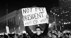 Trump'ın seçilmesinin ardından ABD sokağa döküldü: Benim başkanım değil