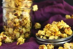 Curry Coconut Popcorn is an exciting way to spice up your popcorn. The coconut oil gives it a sweetness that really complements the spicy curry.
