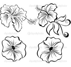 hawaiian flowers coloring pages