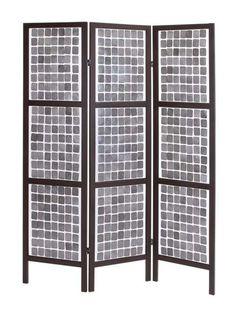 "A.M.B. Furniture & Design :: Room Divider Screens :: Stylish and Unique 71"" Decorative Wooden 3 Panel Screen"