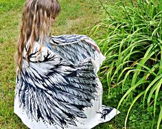 Scarves – Silk scarf Angel wings, boho scarf wrap, scarves – a unique product by WingsOfWin on DaWanda Beach Bridesmaids, White Angel Wings, White Scarves, Scarf Styles, Womens Scarves, Different Styles, Scarf Wrap, Gifts For Mom, Boho