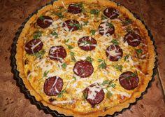 Cukkinis kolbászos pite recept foto