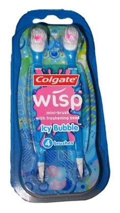 Wisp Mini-Brush Icy Bubble Flavor- perfect for on-the-go!