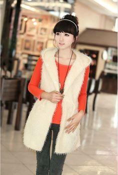 Korean Topper Wool Hooded Vest for Women - BuyTrends.com