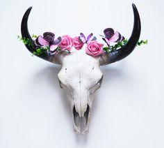 Crâne de vache, Animal Skull, crâne, taxidermie, Skull, Bison, Animal crânes, taxidermie Faux, crâne peint, Cow Skull Australie, décor à la maison