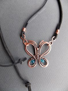 Butterfly pendant by WireGalaxy on Etsy