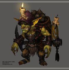 Mine Worker Goblin, HP MP on ArtStation at https://www.artstation.com/artwork/9zoyQ
