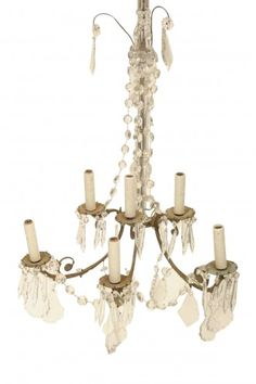 PAIR OF VINTAGE CRYSTAL SCONCES
