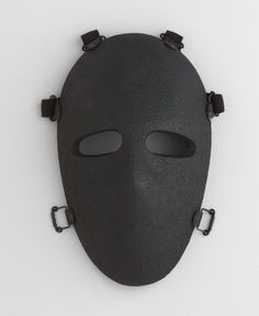 "Bullet-Resistant Mask  Stephen Armellino (American, born 1955)    1983. Kevlar and polyester resin, 11 x 6 3/4 x 3 3/4"" (28 x 17.1 x 9.5 cm). Manufactured by U.S. Armor Corporation. Gift of the manufacturer"