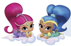 Shimmer And Shine Clipart. Use these Shimmer clipart. Shimmer And Shine Characters, Shimmer And Shine Cake, 4th Birthday, Birthday Parties, My Little Pony Dolls, Bday Girl, Illustration, Clip Art, Shinee