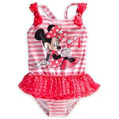 8 yrs 4 2 COLOURS -Ex-Disney MINNIE MOUSE Swimming Costume//Bather  Ages  3 6