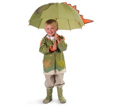 Cute Small Dinosaur Funny Kids Children Girls Boys Raincoat Rain Coat WA