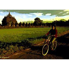 We have to rent bikes... Jogjakarta