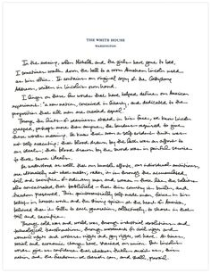The White House released a hand-written tribute by President Obama on Lincoln's Gettysburg Address, on the 150th anniversary of the historic speech. Photo: The White House
