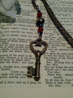 Steampunk Bookmark 'The Key to Beauty ' by cultangel on Etsy, $6.50