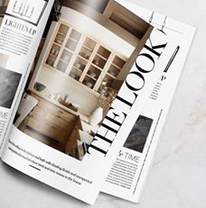 """Check out """"THE LOOK"""" -Luxe Interiors + Designfeatured the beautifully simple Aspen kitchen designed byBrad Krefmanin their latest issue. Featured products: The Roswell Cabinet knobs and Provence Cabinet pulls. View other products featured in magazines on our websitewww.rockymountainhardware.com"""