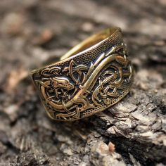 CELTIC DRAGON HANDCRAFTED AMULET RING