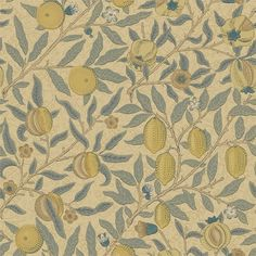 Fruit Blue Gold/Brown Tapeter från William Morris & Co. 15% Rabatt över 5000kr. Fri frakt. Showroom: Sturegatan 20, Stockholm.