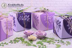 Varázslatos dobozkákat készíthetünk, Linda Kanase -Sizzix Thinlits Wrap  Favor Box vágósablon készletével. Tartsatok velem!      Hihetetlen egyszerűséggel készíthetjük el ezt a csod...