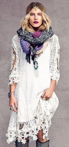 bohemian fashion, this is a gorgeous dress♥