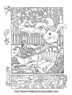 Hidden Pictures Publishing: Easter Hidden Picture Puzzle and Coloring Page