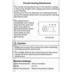 janome circular attachment | Janome Part Number 202106009