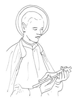 saint gerard coloring page - Google Search