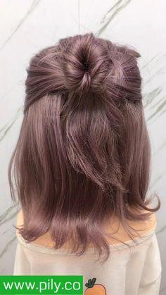 short braided hairstyles Hair Up Styles, Short Hair Styles Easy, Braids For Short Hair, Cute Hairstyles For Short Hair, Up Hairstyles, Medium Hair Styles, Short Hair Buns, Easy Mom Hairstyles, Casual Braided Hairstyles